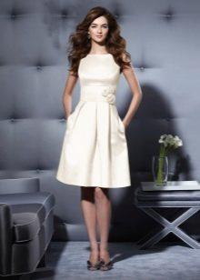 Вечернее платье из хлопка короткое