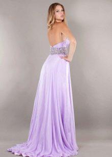 Вечернее платье для полных  открытой спиной
