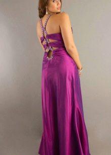 Нарядное вечернее платье с открытой спиной большого размера