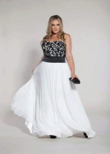 Белое вечернее нарядное платье большого размера