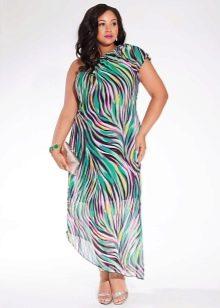 Цветное короткое нарядное вечернее платье