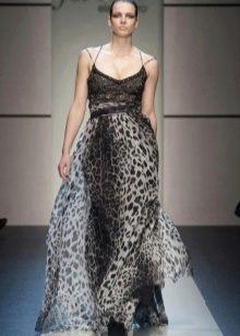 Легкое нарядное вечернее платье от Елена Миро серое