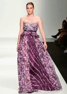 Легкое сиреневое нарядное вечернее платье от Елена Миро