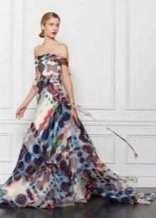 Вечернее недорогое платье из шифона