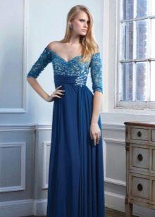 Платье недорогое вечернее с кружевом