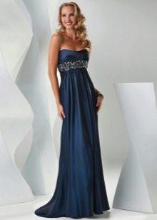 Вечернее платье не дорогое синее в пол