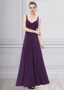 Вечернее фиолетовое платье в пол недорогое