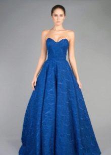 Синее вечернее платье пышное