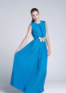 Вечернее платье светло синего цвета