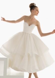Пышное свадебное платье короткое