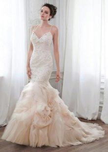 Платье свадебное годе с корсетом