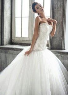 Свадебное платье с низкой талией