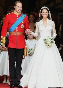 Свадебное платье с кружевом Кейт Мидлтон