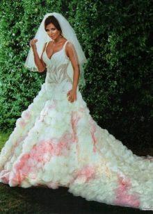 Платье свадебное бело-розовое Ани Лорак