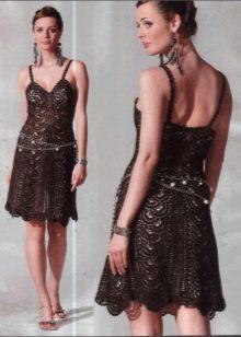 Вечернее платье на бретелях крючком