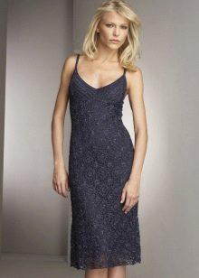 Вечернее платье крючком из круглых мотивов
