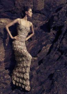 Vanessa Montoro вечернее платье крючком в пол