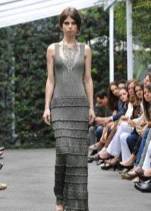 Вечернее платье от Vanessa Montoro в пол