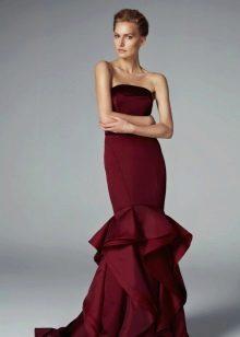 Вечернее платье русалка с корсетом