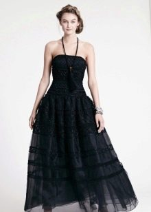 Вечернее платье кружевное с корсетом
