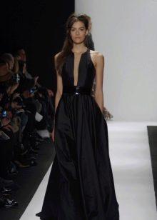 Черное вечернее платье с корсетом