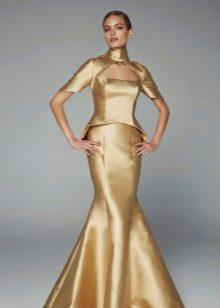 Вечернее платье русалка с отдельным корсетом