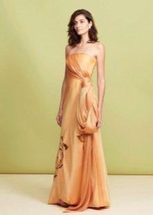 Вечернее платье с корсетом оранжевое