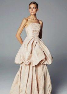 Вечернее платье баллон в пол с корсетом