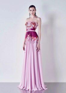 Вечернее платье не пышное с корсетом