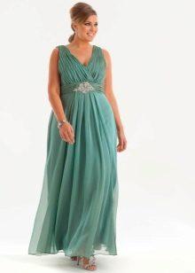 Вечернее платье ампир на свадьбу для полных