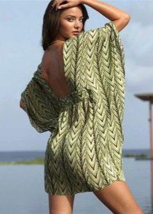 Короткое вечернее платье туника с открытой спиной
