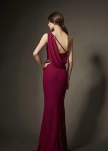 бордовое платье вечернее в пол с открытой спиной