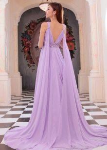 Лиловое платье вечернее с открытой спиной