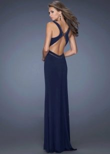 Вечернее платье с перекрещенными лямками