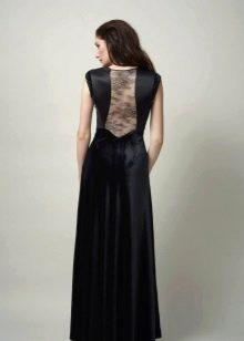 Вечернее платье со вставкой на спине
