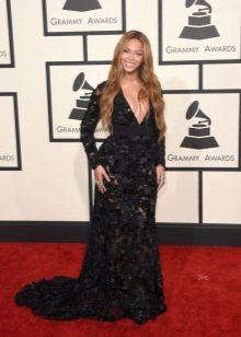Вечернее черное платье Бейонсе