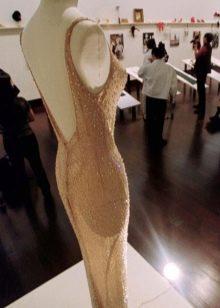 Платье Мерилин Монро со стразами вид со спины