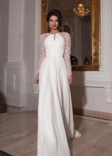 Свадебное платье из коллекции Crystal Design 2015 закрытое с рукавами
