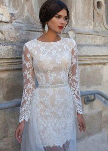 Свадебное платье короткое от Crystal Design