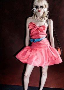 Вечернее платье розовое летнее