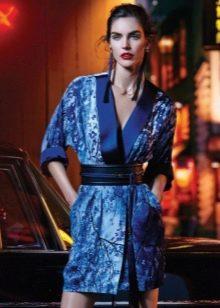 вечернее летнее платье- кимоно