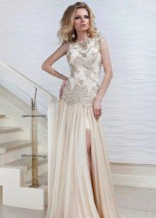 Вечернее платье от Оксаны Мухи с вышивкой и кружевом