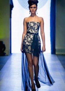 Вечернее платье от Оксаны Мухи короткое 2014