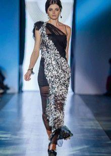 Вечернее платье из коллекции Privee 2014 на одно плечо