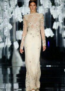 Свадебное платье с жемчугом и кристаллами от Йолана Криса
