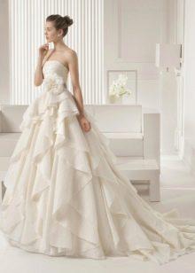 Свадебное платье 2015 от Роза Клара с рюшами