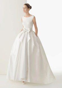 Свадебное платье с бантом от Роза Клары