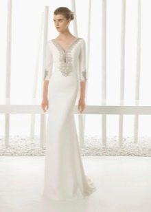 Свадебное платье 2016 закрытое с декором