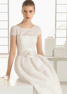 Свадебное платье 2016 с короткими рукавами