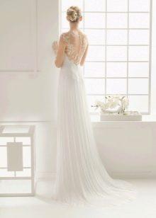 Свадебное платье 2016 с иллюзией открытой спины